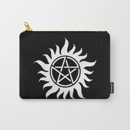 Anti Possesion Sigil White Carry-All Pouch
