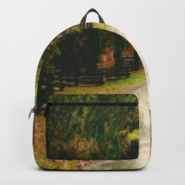 Fall Country Road Split Rail Fence Backpack