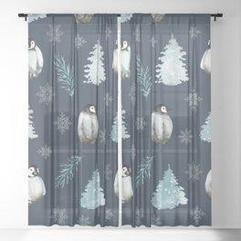 Winter Wonderland 4 Sheer Curtain