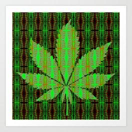 Marijuana Leaf Art Print