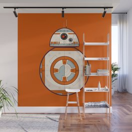 BB8 Droid on Orange Wall Mural