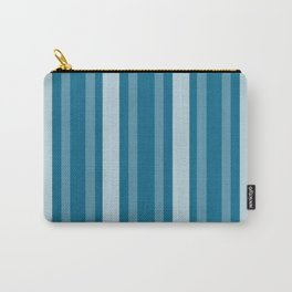 Dark Cerulean Victorian Lady Stripe Carry-All Pouch