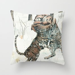 Tigers at Play Throw Pillow