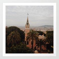 Barcelona architecture Art Print