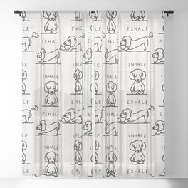 Inhale Exhale Dachshund Sheer Curtain