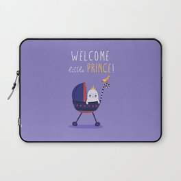 Welcome little prince! Laptop Sleeve