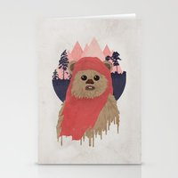 ewok Stationery Cards featuring Ewok by Robert Scheribel