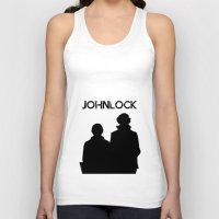 johnlock Tank Tops featuring Johnlock by lori