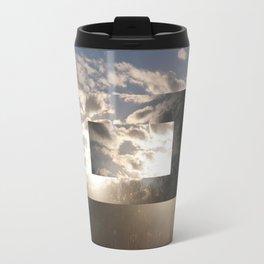 Geometric Sunset Clouds Travel Mug