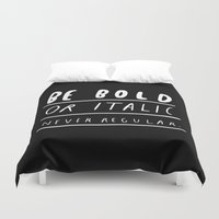 god Duvet Covers featuring NEVER by WASTED RITA