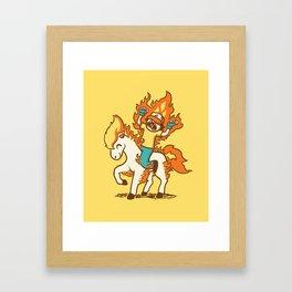 Gotta Burn 'em All !!! Framed Art Print