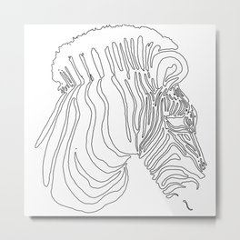 2016 Zebra Artwork Metal Print