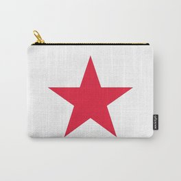 Single red star on white Carry-All Pouch