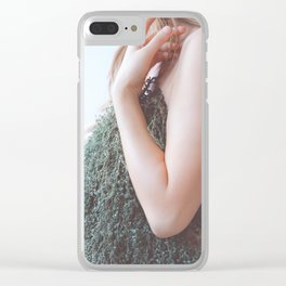 One, Woman with Plants, Feminine Energy Clear iPhone Case