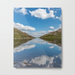 Blue Lake of Snowdonia Metal Print