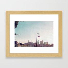 Minneapolis Minnesota Skyline at the Stone Arch Bridge Framed Art Print