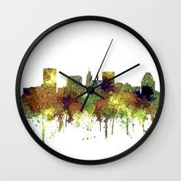 Baltimore, Maryland Skyline - SG - Safari Buff Wall Clock
