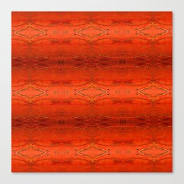 Rustic Orange Geometric Southwestern Pattern - Luxury - Comforter - Bedding - Throw Pillows - Rugs Canvas Print