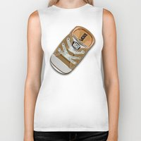 vans Biker Tanks featuring Cute brown Vans all star baby shoes apple iPhone 4 4s 5 5s 5c, ipod, ipad, pillow case and tshirt by Three Second