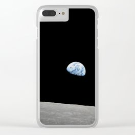 Apollo 8 - Iconic Earthrise Photograph Clear iPhone Case