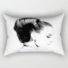Woman Portrait Fashion Minimal Drawing Rectangular Pillow