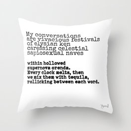 Conversation poem Throw Pillow