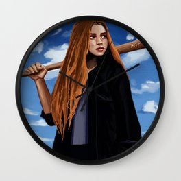 Sports Girl Bella Peng Wall Clock