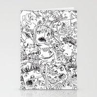 it crowd Stationery Cards featuring Crowd by Sára Szabó