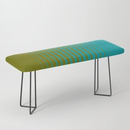 gradient stripes aqua olive Bench