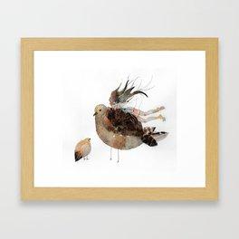 a bird thing  Framed Art Print