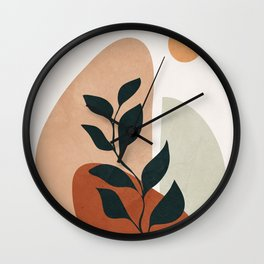 Soft Shapes II Wall Clock
