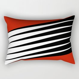 Black and white diagonal stripes Rectangular Pillow
