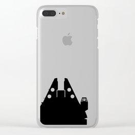 Millennium Falcon - Black Clear iPhone Case