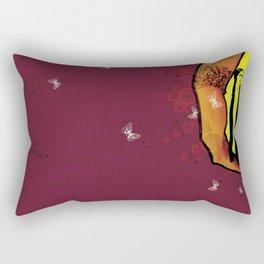 For you - maroon Rectangular Pillow