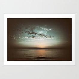 Sunset in camera obscura Art Print