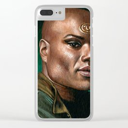 Teal'c Stargate SG-1 Christopher Judge Chulak Clear iPhone Case