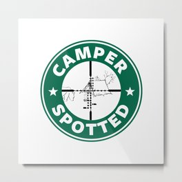 Camper Spotted Metal Print