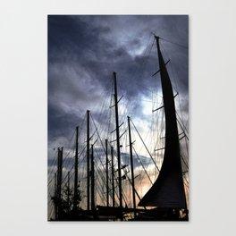 sunset sailing life Canvas Print