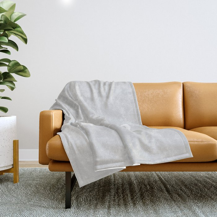 Get naked // light gray and white Throw Blanket