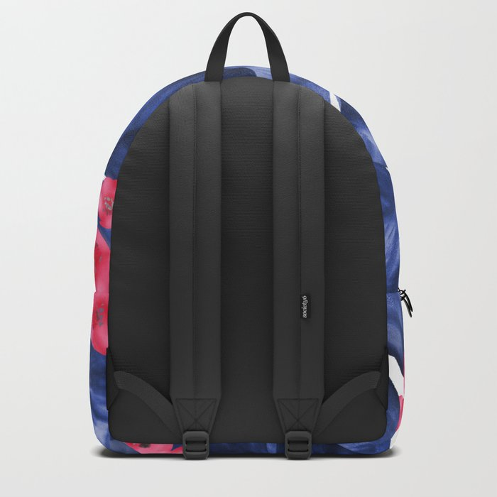 Tropical Banana Leaves With Flower Pattern Backpack