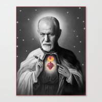freud Canvas Prints featuring Freud by Michelle Wenz