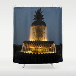 fountain lights Shower Curtain
