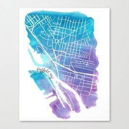 Buffalo, NY City Grid Canvas Print
