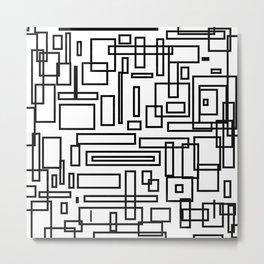Squarez Metal Print