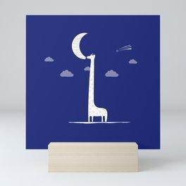 Giraffe Moon Mini Art Print