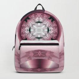 Art Deco Hub Cap in Red Backpack