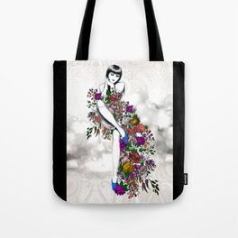 Garden Dress Tote Bag
