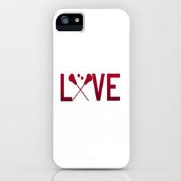 Love Lacrosse iPhone Case