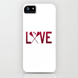 Love Lacrosse iPhone Case
