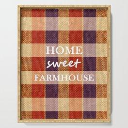 Burlap & Home Sweet FarmHouse Serving Tray
